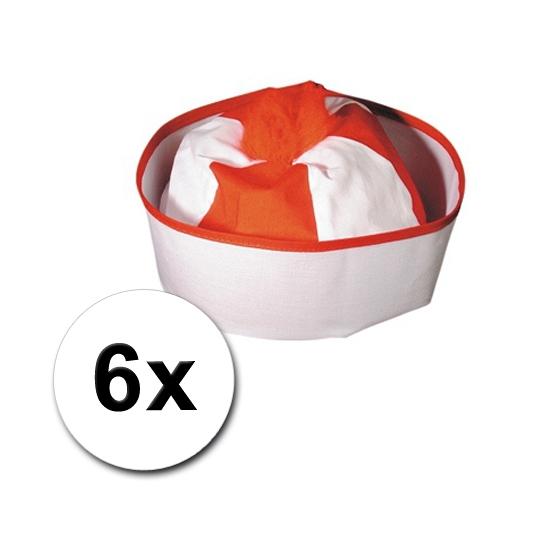 6 Matrozen hoedjes gekleurd