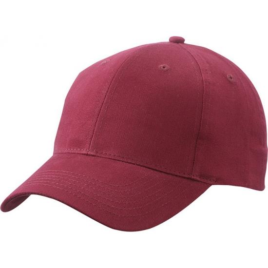 6 paneels baseball cap bordeaux