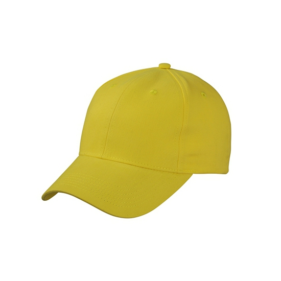 6 paneels baseball cap geel