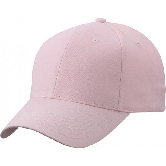 6 paneels baseball cap licht roze
