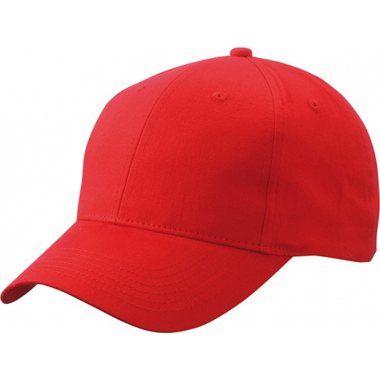 6 paneels baseball cap rood
