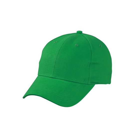 6 panel baseball cap grasgroen