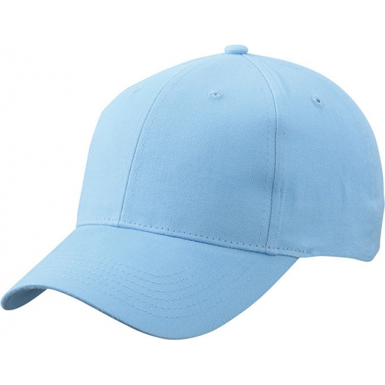 6 panel baseball cap licht blauw