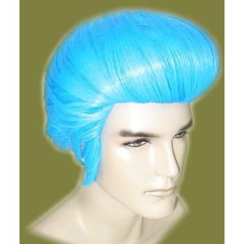 Blauwe Elvis pruik