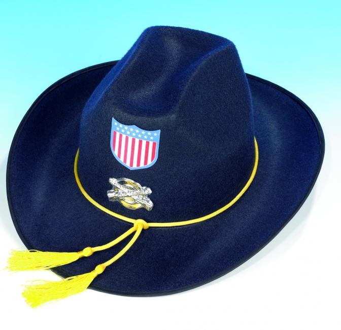 Blauwe Western hoeden