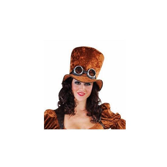 Bruine hoge hoed