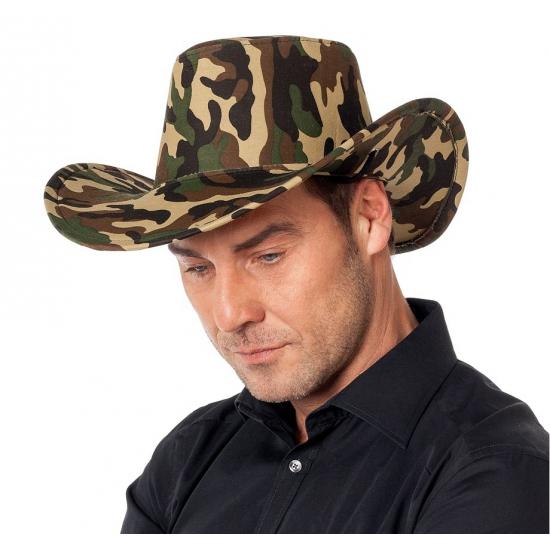 Camouflage cowboy hoed voor dames