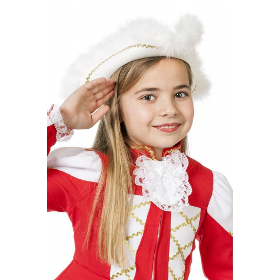 Dansmarieke hoed wit voor meisjes