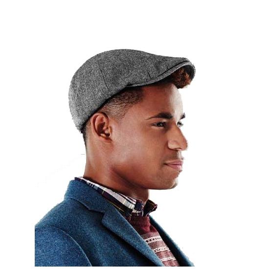 Donkergrijze ivy cap voor dames en heren