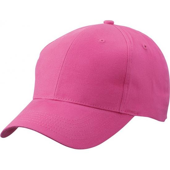 Fuchsia baseball cap van katoen