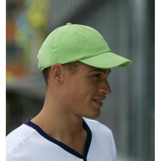 Gekleurde lime groene baseballcaps