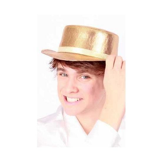 Gouden Lou Bandy hoed luxe