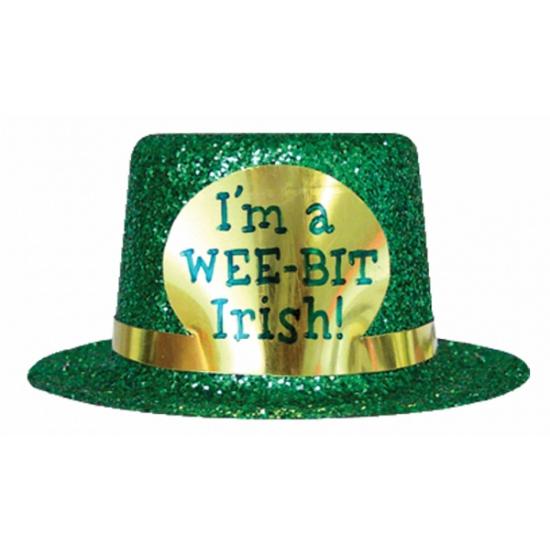 Groen glitter hoedje St. Patricks Day