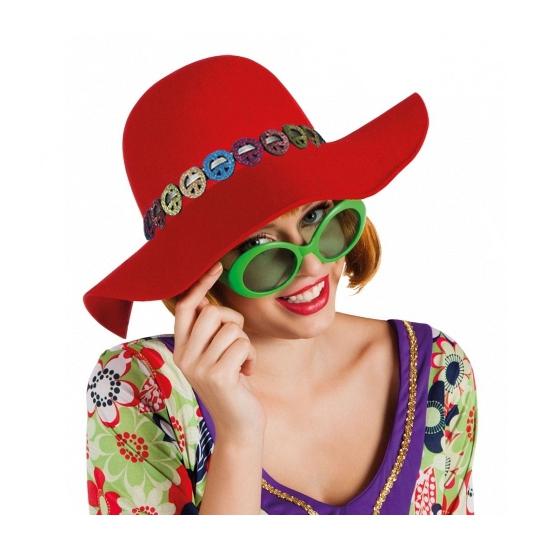 Hippie hoeden met bloemen bandje