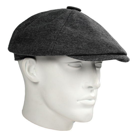 Katoenen flat cap grijs