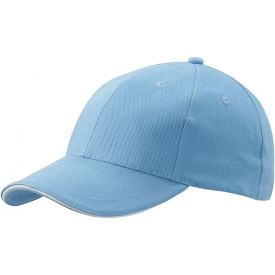 Lichtblauwe baseball cap voor volwassenen