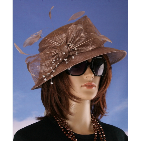 Luxe bronzen Koninginnen hoed Alexia
