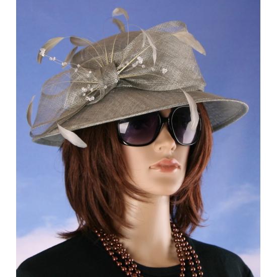 Luxe grijze Koninginnen hoed Alexia