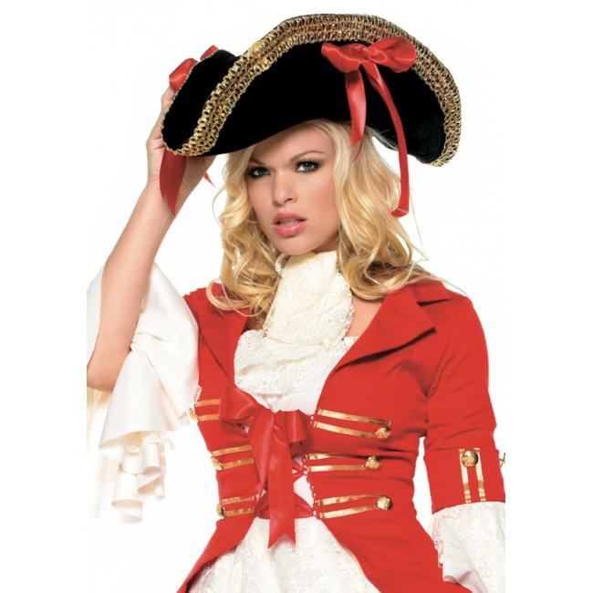 Luxe piraten hoed voor dames