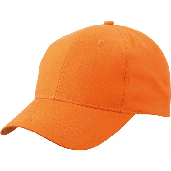 Oranje baseball cap van katoen