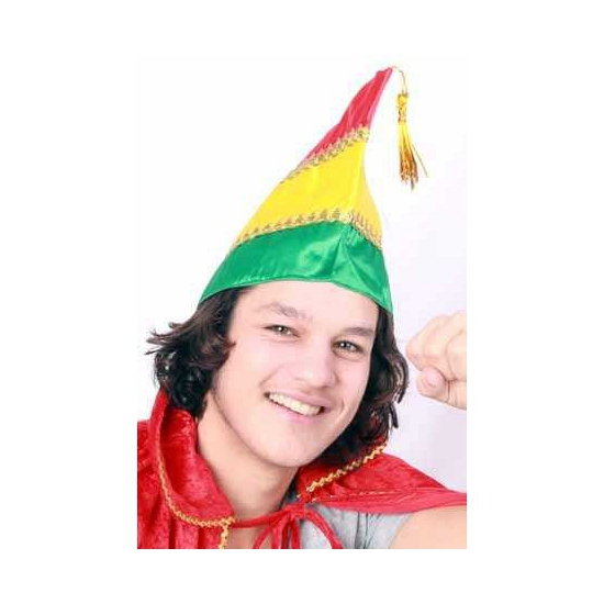 Prins Carnaval hoed in Carnavalskleuren