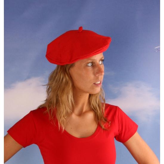 Rode baret hoedje voor dames