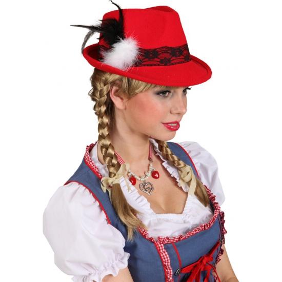 Rode Tirolerhoeden voor dames