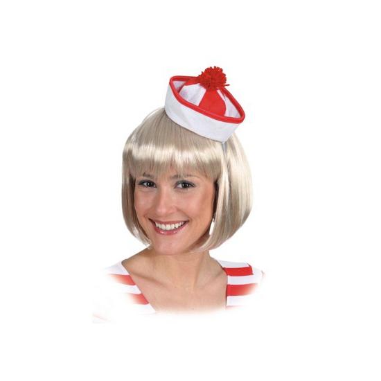 Rood met witte sailor hoedjes