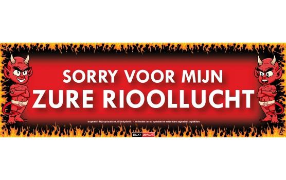 Sticky Devil stickers tekst Rioollucht
