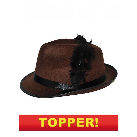 Tiroler hoedje bruin