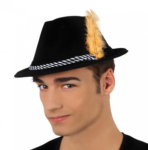Tiroler hoedje met veer