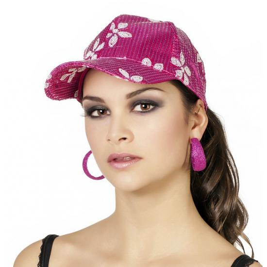 Tropische print pet roze voor dames