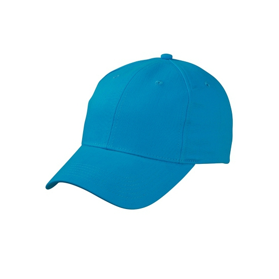 Turquoise baseball cap van katoen