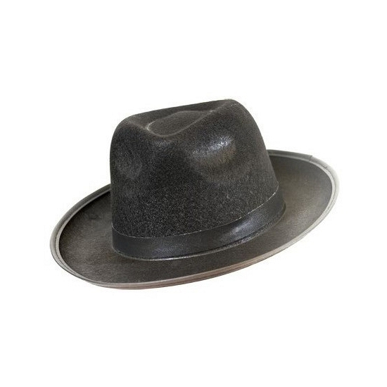 Vilten blues hoed zwart