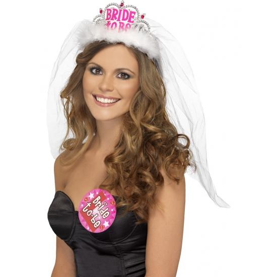 Vrijgezellenfeest tiara voor de bruid