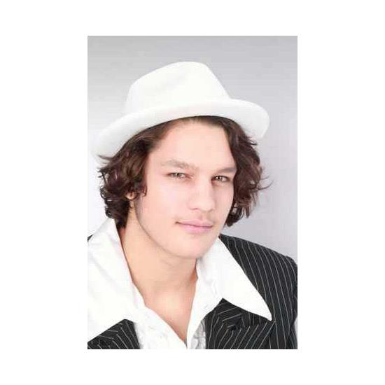 Witte kojak gangster hoed