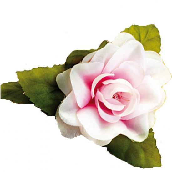 Witte roze haarclip