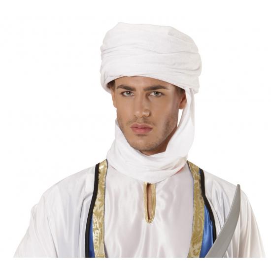 Witte tulband voor volwassenen