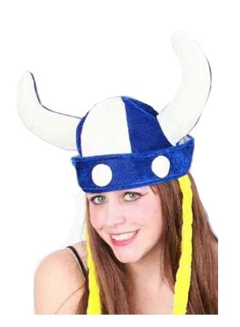 Zachte viking hoed met hoorns
