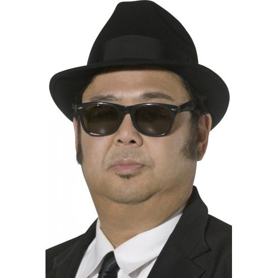 Zwarte fedora hoeden