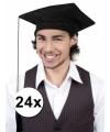 24x afstudeer hoedjes geslaagd