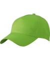 5 panel baseball pet lime groen