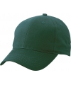 6 panel baseball cap donkergroen