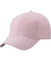 6 panel baseball cap licht roze