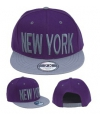 Baseballcap new york paars