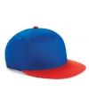 Beechfield kindercap blauw rood