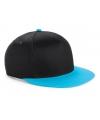 Beechfield kindercap zwart blauw