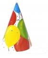 Feesthoedjes ballonnen 6 stuks