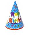 Feesthoedjes happy birthday 6 stuks