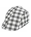 Flat cap grijze geblokt voor volwassenen